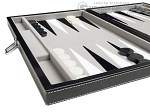 picture of 15-inch Leatherette Travel Backgammon Set - Inlaid Velvet Field (5 of 11)