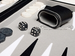 picture of 15-inch Leatherette Travel Backgammon Set - Inlaid Velvet Field (7 of 11)
