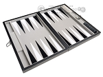 picture of 15-inch Leatherette Travel Backgammon Set - Inlaid Velvet Field (9 of 11)