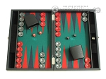 picture of Hector Saxe Faux Leather Travel Backgammon Set - Green Field (1 of 12)