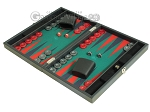 picture of Hector Saxe Faux Leather Travel Backgammon Set - Green Field (3 of 12)