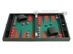 picture of Hector Saxe Faux Leather Travel Backgammon Set - Green Field (4 of 12)