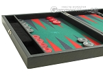 picture of Hector Saxe Faux Leather Travel Backgammon Set - Green Field (5 of 12)
