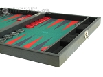 picture of Hector Saxe Faux Leather Travel Backgammon Set - Green Field (6 of 12)