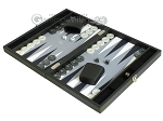 picture of Hector Saxe Faux Leather Travel Backgammon Set - Grey Field (3 of 12)