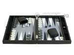 picture of Hector Saxe Faux Leather Travel Backgammon Set - Grey Field (4 of 12)