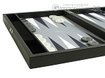 picture of Hector Saxe Faux Leather Travel Backgammon Set - Grey Field (5 of 12)