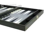 picture of Hector Saxe Faux Leather Travel Backgammon Set - Grey Field (6 of 12)