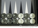 picture of Hector Saxe Faux Leather Travel Backgammon Set - Grey Field (8 of 12)