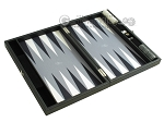 picture of Hector Saxe Faux Leather Travel Backgammon Set - Grey Field (10 of 12)