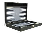 picture of Hector Saxe Faux Leather Travel Backgammon Set - Grey Field (11 of 12)