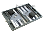 picture of Hector Saxe Carbon Linen/Felt Travel Backgammon Set - Grey (2 of 12)