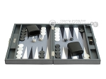 picture of Hector Saxe Carbon Linen/Felt Travel Backgammon Set - Grey (4 of 12)