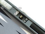 picture of Hector Saxe Carbon Linen/Felt Travel Backgammon Set - Grey (9 of 12)