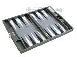 picture of Hector Saxe Carbon Linen/Felt Travel Backgammon Set - Grey (10 of 12)