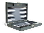 picture of Hector Saxe Carbon Linen/Felt Travel Backgammon Set - Grey (11 of 12)