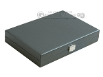 picture of Hector Saxe Carbon Linen/Felt Travel Backgammon Set - Grey (12 of 12)