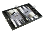 picture of Hector Saxe Leatherette Travel Backgammon Set - Black (2 of 12)