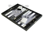 picture of Hector Saxe Leatherette Travel Backgammon Set - Black (3 of 12)