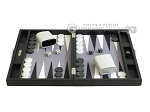 picture of Hector Saxe Leatherette Travel Backgammon Set - Black (4 of 12)