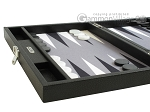 picture of Hector Saxe Leatherette Travel Backgammon Set - Black (5 of 12)