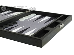 picture of Hector Saxe Leatherette Travel Backgammon Set - Black (6 of 12)