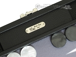 picture of Hector Saxe Leatherette Travel Backgammon Set - Black (7 of 12)