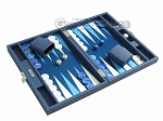 picture of Hector Saxe Leatherette Travel Backgammon Set - Blue (2 of 12)