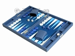 picture of Hector Saxe Leatherette Travel Backgammon Set - Blue (3 of 12)