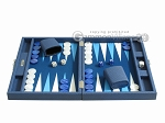 picture of Hector Saxe Leatherette Travel Backgammon Set - Blue (4 of 12)