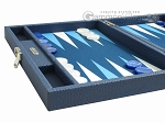 picture of Hector Saxe Leatherette Travel Backgammon Set - Blue (5 of 12)