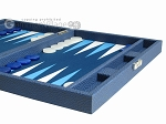 picture of Hector Saxe Leatherette Travel Backgammon Set - Blue (6 of 12)