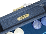 picture of Hector Saxe Leatherette Travel Backgammon Set - Blue (7 of 12)
