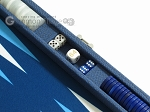 picture of Hector Saxe Leatherette Travel Backgammon Set - Blue (9 of 12)