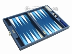 picture of Hector Saxe Leatherette Travel Backgammon Set - Blue (10 of 12)