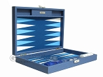 picture of Hector Saxe Leatherette Travel Backgammon Set - Blue (11 of 12)