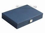 picture of Hector Saxe Leatherette Travel Backgammon Set - Blue (12 of 12)