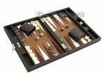 picture of Hector Saxe Leatherette Travel Backgammon Set - Chocolate (2 of 12)