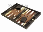 picture of Hector Saxe Leatherette Travel Backgammon Set - Chocolate (3 of 12)