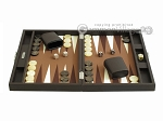 picture of Hector Saxe Leatherette Travel Backgammon Set - Chocolate (4 of 12)