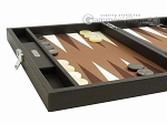 picture of Hector Saxe Leatherette Travel Backgammon Set - Chocolate (5 of 12)