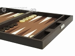 picture of Hector Saxe Leatherette Travel Backgammon Set - Chocolate (6 of 12)