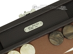 picture of Hector Saxe Leatherette Travel Backgammon Set - Chocolate (7 of 12)