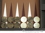 picture of Hector Saxe Leatherette Travel Backgammon Set - Chocolate (8 of 12)
