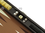 picture of Hector Saxe Leatherette Travel Backgammon Set - Chocolate (9 of 12)