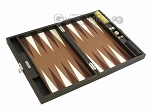 picture of Hector Saxe Leatherette Travel Backgammon Set - Chocolate (10 of 12)