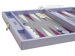 picture of Hector Saxe Leatherette Travel Backgammon Set - Parma (5 of 12)