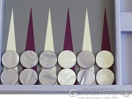 picture of Hector Saxe Leatherette Travel Backgammon Set - Parma (8 of 12)