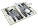 picture of Hector Saxe Leatherette Travel Backgammon Set - White (2 of 12)