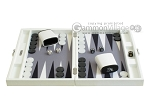 picture of Hector Saxe Leatherette Travel Backgammon Set - White (4 of 12)